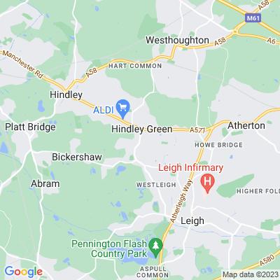 Hindley Green Hall Location