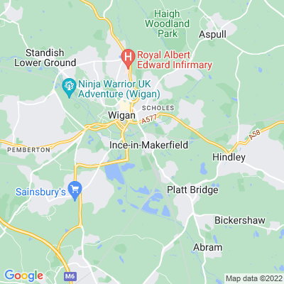 Westwood Park, Wigan Location