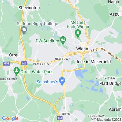 Alexandra Park, Wigan Location