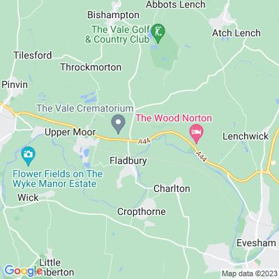 Craycombe House, Fladbury Location