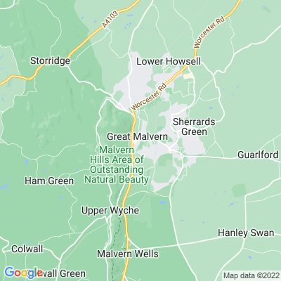 Priory Gardens, Malvern Location