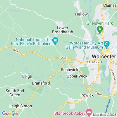 Crown East, Rushwick Location