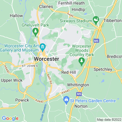Worcester Woods Country Park Location