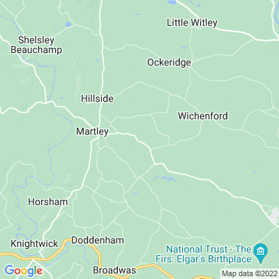 Laughern Hill, Wichenford Location