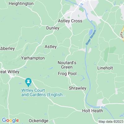 Glasshampton, Astley Location