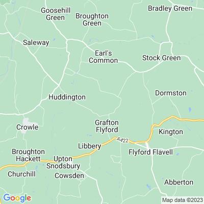 Hilltop Farm, Grafton Flyford Location