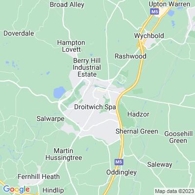 Droitwich Brine Baths Location