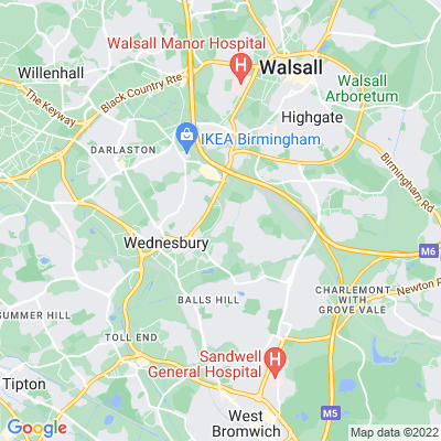 Brunswick Park, Wednesbury, Sandwell Location