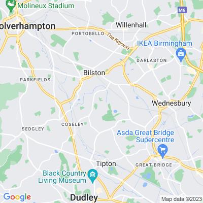 Coronation and Memorial Park, Bilston Location
