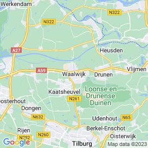 Werkgebied van onze bestrijder in Waalwijk