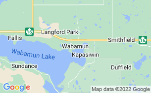 Map of Wabamun Lake Campground