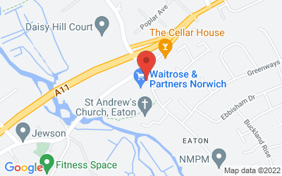 Map of Waitrose Eaton