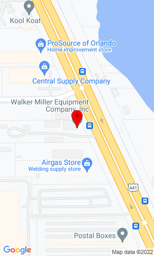 Google Map of Walker Miller Equipment Company, Inc. 4400 N. Orange Blossom Trail, Orlando, FL, 32804