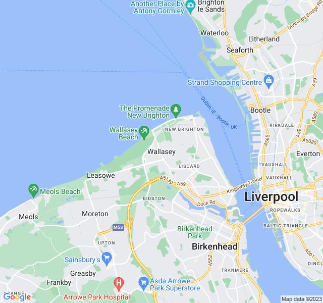Website Designer Wallasey Google map of location