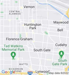 Walnut Park CA Map