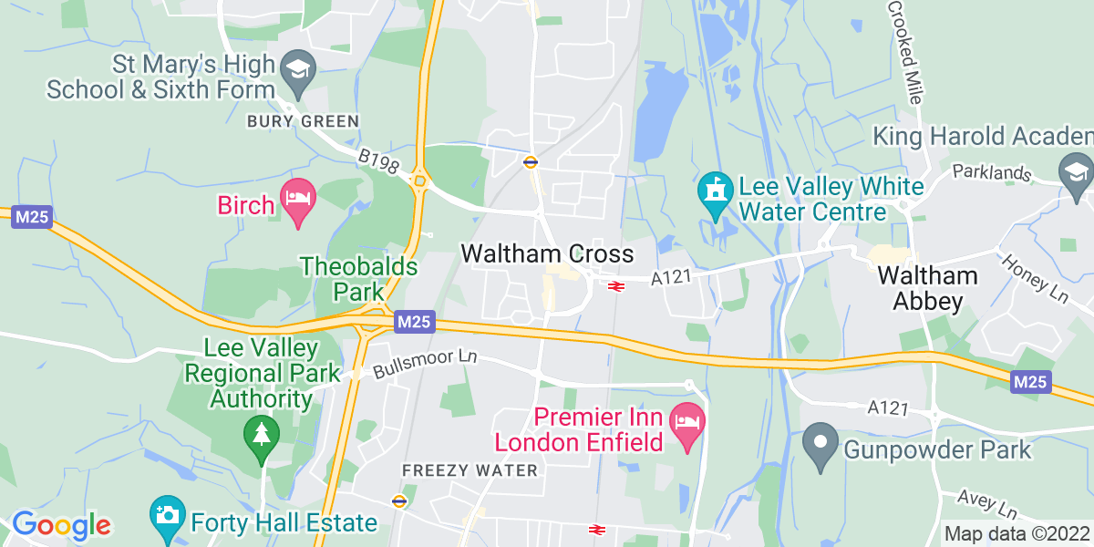 Map: Food Technologist job role in Waltham Cross