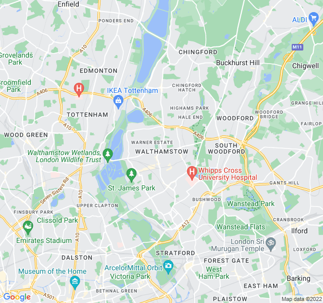 Website Designer Walthamstow Google map of location