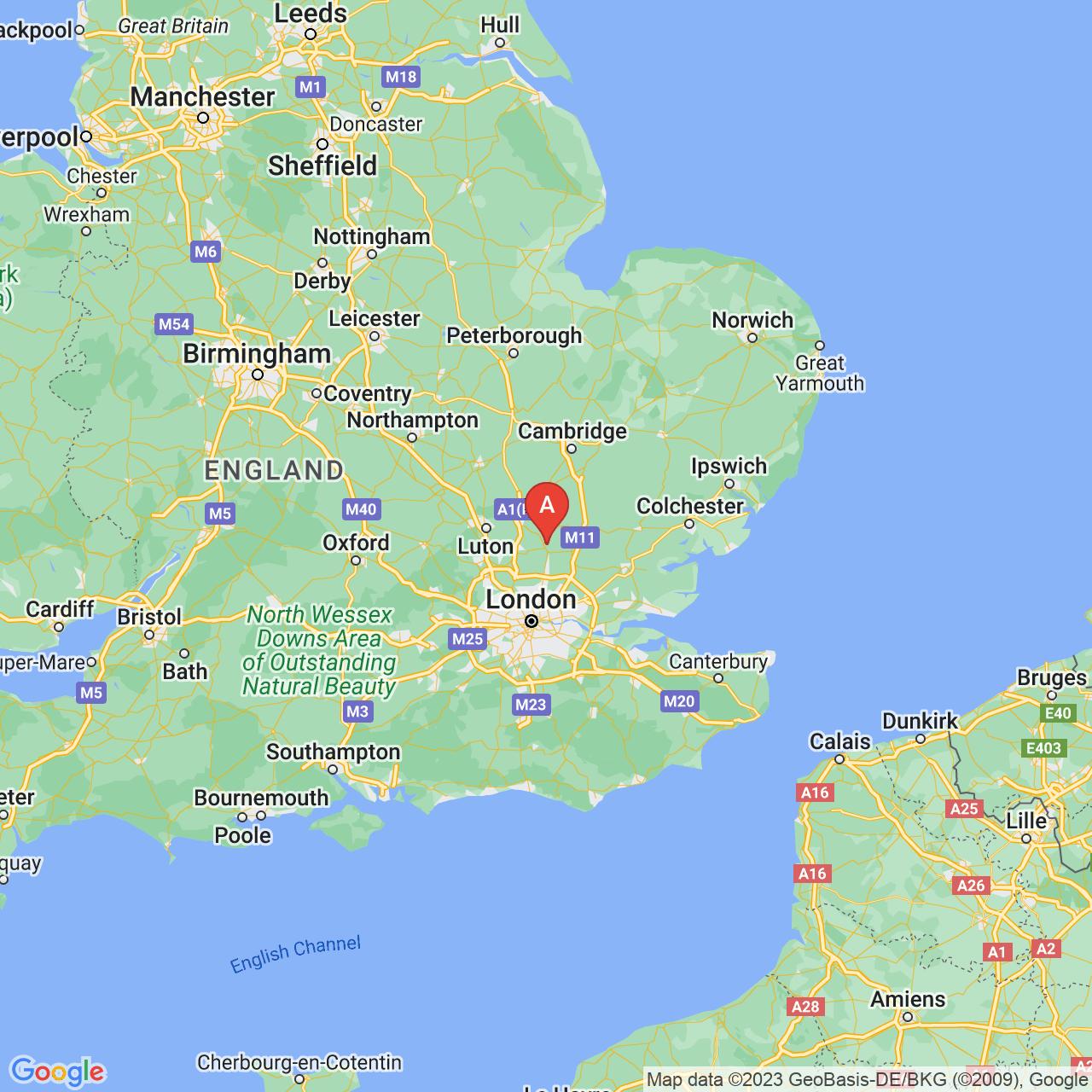 Ware, England Map