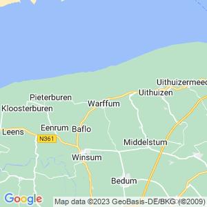 Werkgebied van onze bestrijder in Warffum