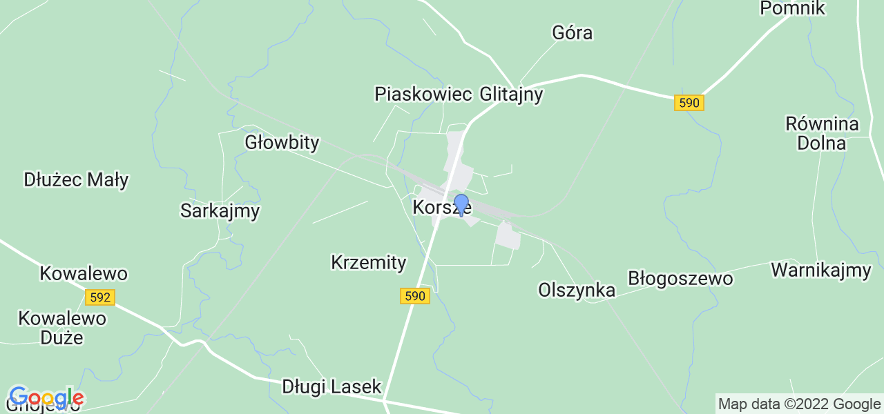 Dostępne w Korszach lokalizacje punktów nadania, z których możesz skorzystać, chcąc wysłać turbinę do regeneracji w największym serwisie w Polsce