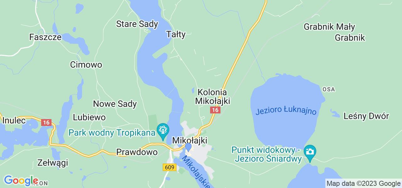 Dostępne w Mikołajkach lokalizacje punktów nadania, z których możesz skorzystać, chcąc wysłać turbinę do regeneracji w największym serwisie w Polsce