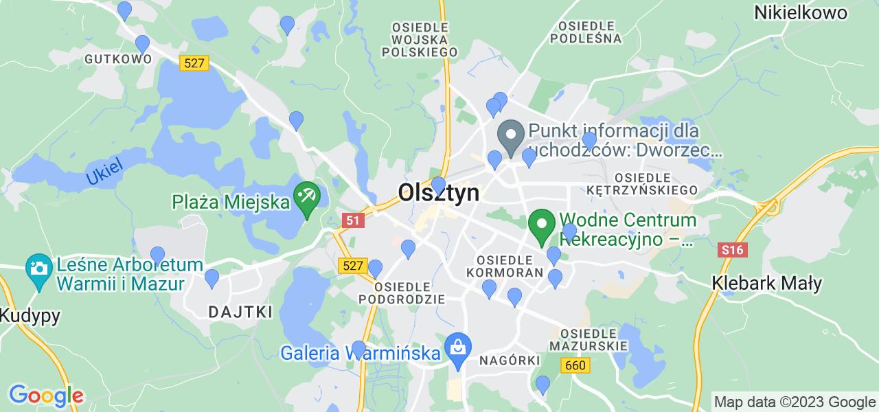 Dostępne w Olsztynie lokalizacje punktów nadania, z których możesz skorzystać, chcąc wysłać turbinę do regeneracji w największym serwisie w Polsce