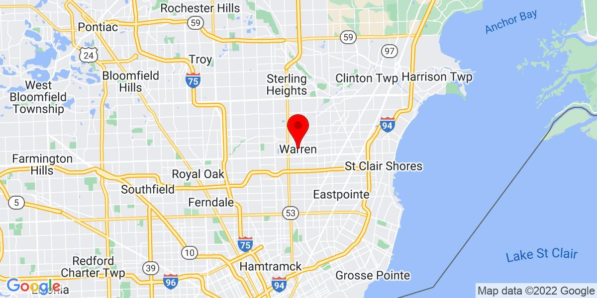 Google Map of Warren, MI