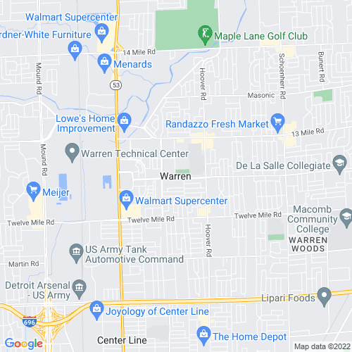 Map of Warren, MI
