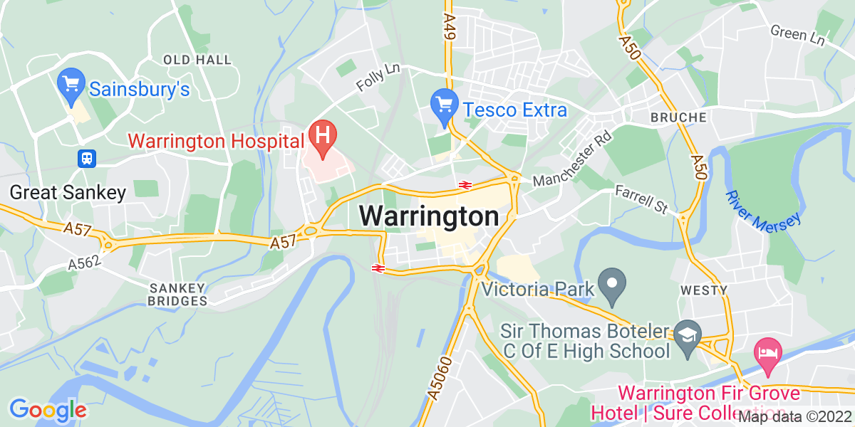 Map: BMS Area Sales Manager job role in Warrington