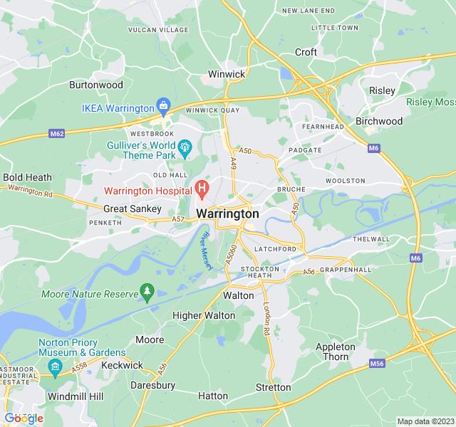 Website Designer Warrington Google map of location