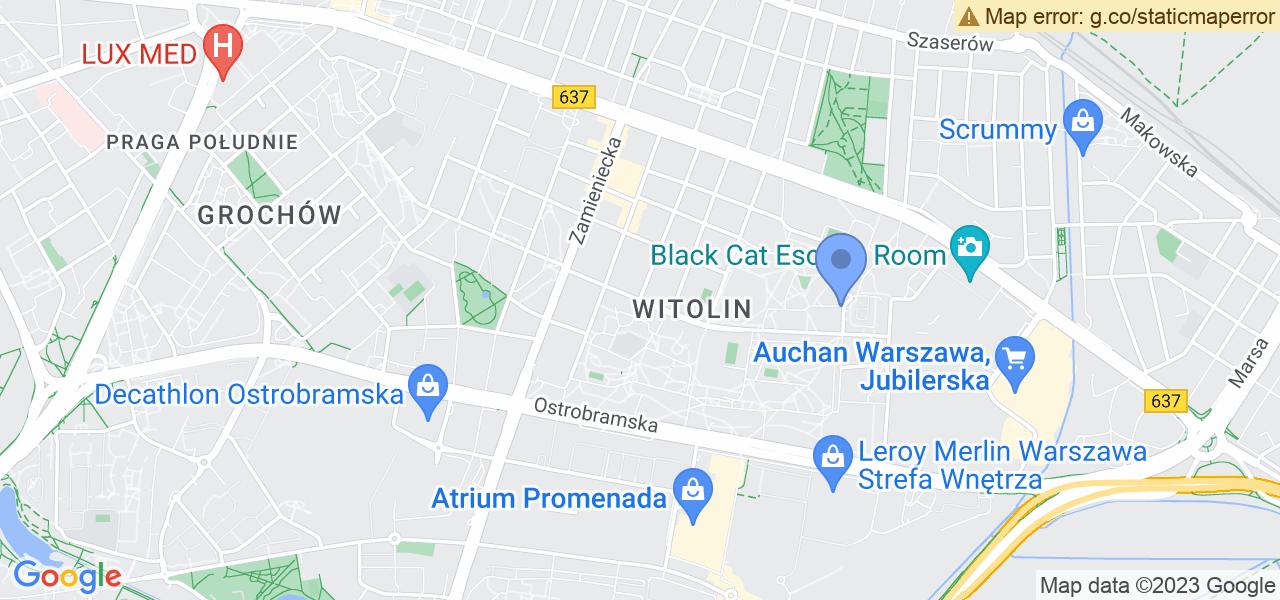 Jedna z ulic w Warszawie – Łukowska i mapa dostępnych punktów wysyłki uszkodzonej turbiny do autoryzowanego serwisu regeneracji