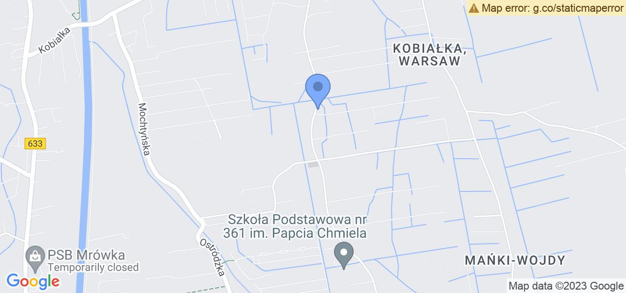 Jedna z ulic w Warszawie – Ruskowy Bród i mapa dostępnych punktów wysyłki uszkodzonej turbiny do autoryzowanego serwisu regeneracji