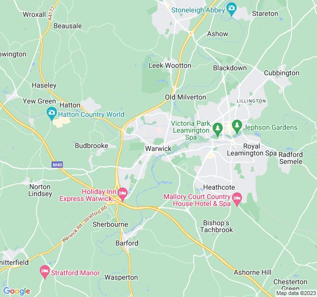 Website Designer Warwick Google map of location