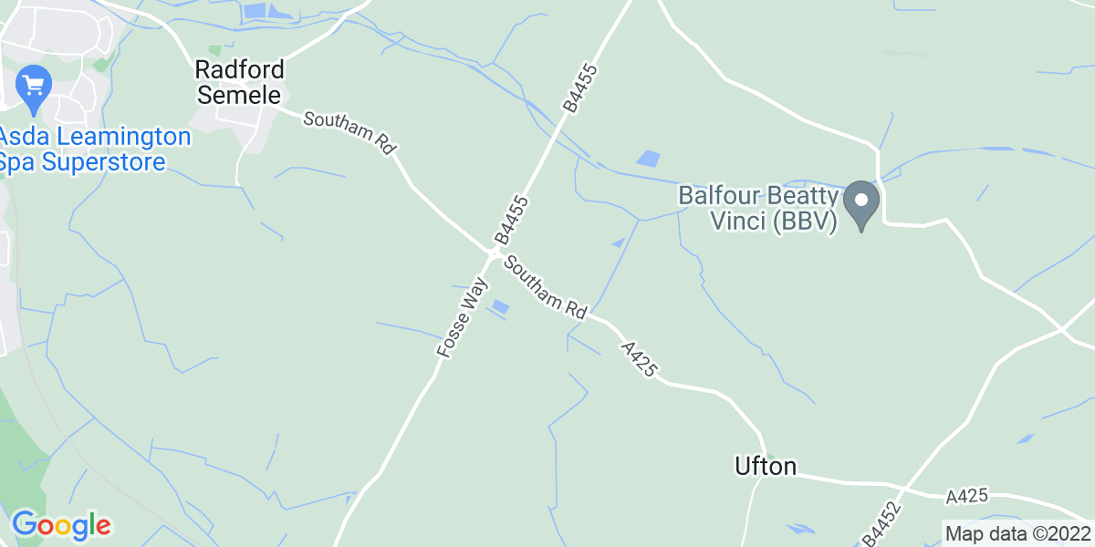Map: Maintenance Engineer Days, Maunfacturing position in Warwickshire