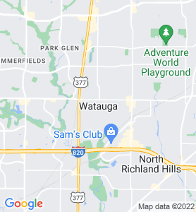 Watauga TX Map