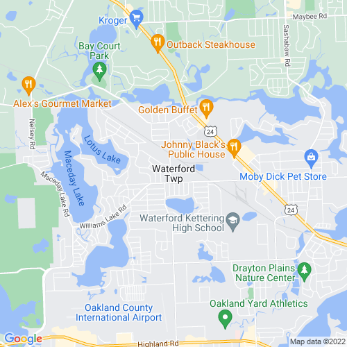 Map of Waterford, MI