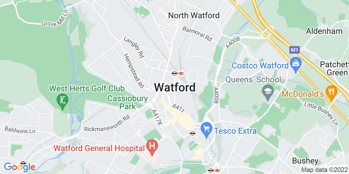 Map: Purchase Ledger job role in Watford