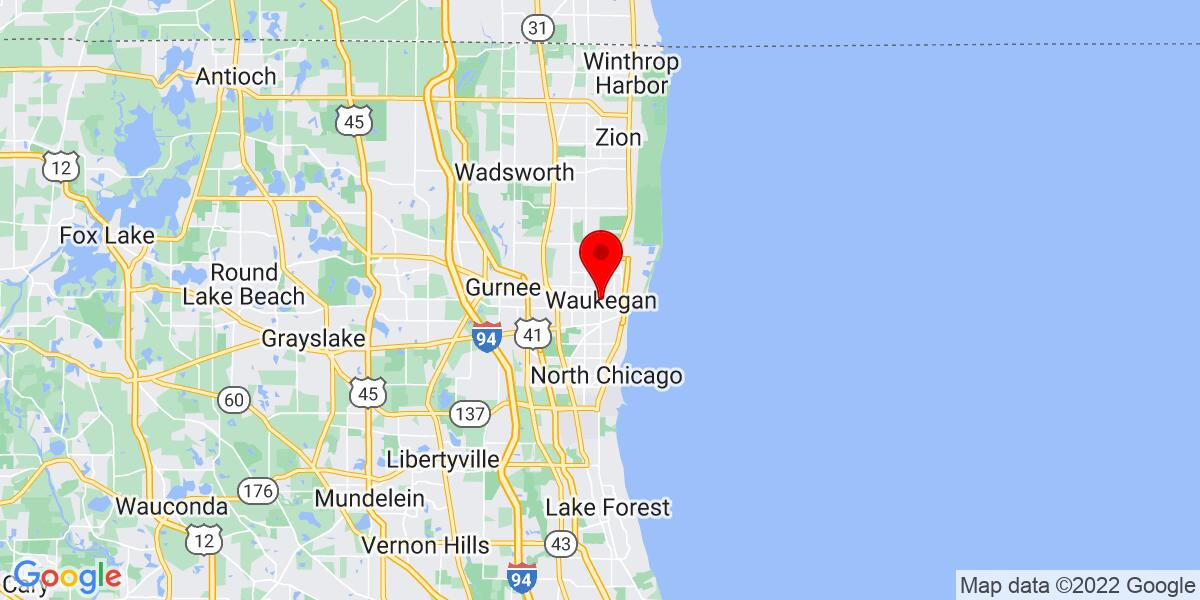 Google Map of Waukegan, IL