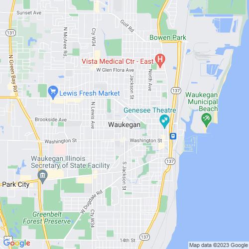 Map of Waukegan, IL