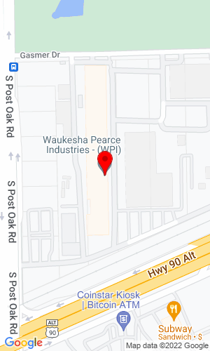 Google Map of Waukesha-Pearce Industries 12320 S  Main Street, Houston, TX, 77035,