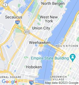 Weehawken NJ Map