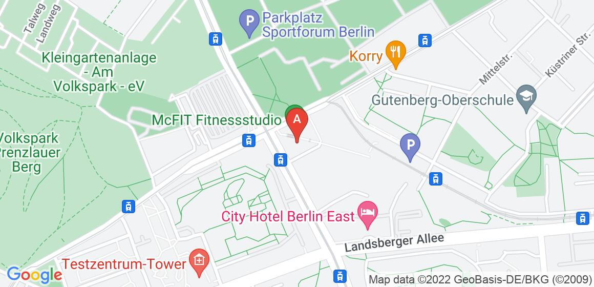 Google Map of Weißenseer Weg 37, 13055 Berlin, Germany