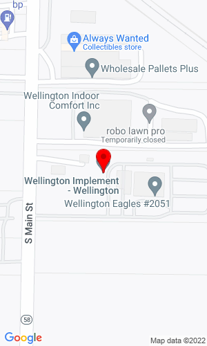 Google Map of Wellington Implement 625 South Main Street, Wellington, OH, 44090