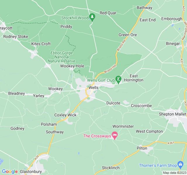 Website Designer Wells Google map of location