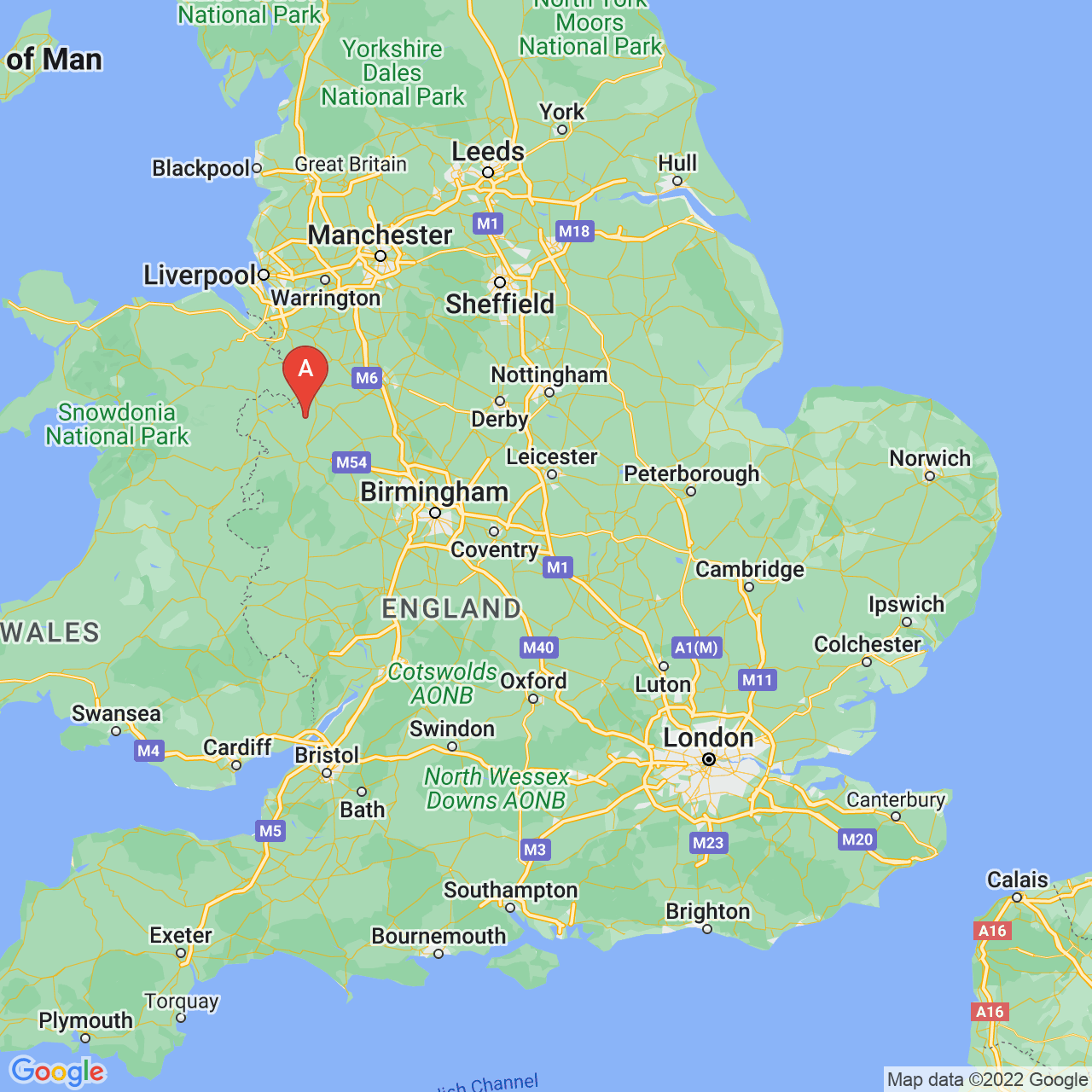 Wem, England Map