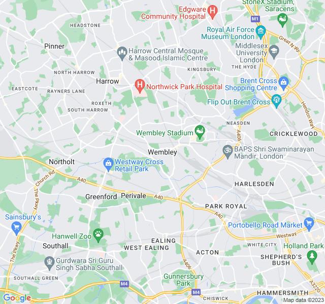 Website Designer Wembley Google map of location