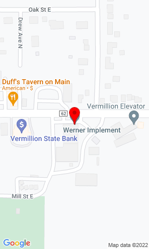 Google Map of Werner Implement 119 Main Street, Vermillion, MN, 55085