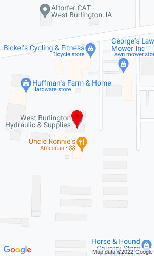 Google Map of West Burlington Hydraulics 1109 Derek Lincoln Drive, West Burlington, IA, 52655