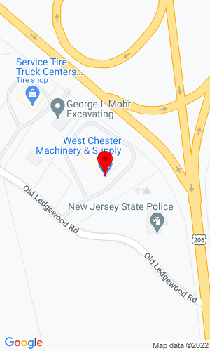 Google Map of West Chester Machinery 278 Old Ledgewood Road, Flanders, NJ, 07836