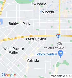 West Covina CA Map